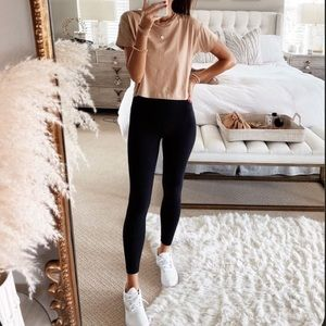 Not Your Basic Chick High Waisted Leggings-Blk